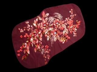 刺繍・レース シングル モチーフ(D3086)
