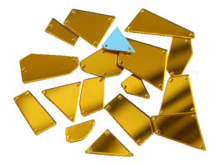 ミラーストーン 1セット(12個入) Gold 004