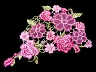 刺繍・レース シングル モチーフ(C2503)