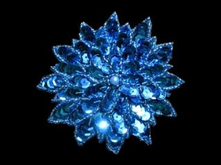 スパンコールモチーフ Turquoise MT(1125)