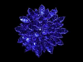 スパンコールモチーフ Blue MT(1126)