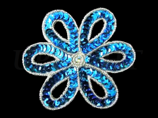スパンコールモチーフ Turquoise MT(1156)