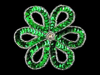 スパンコールモチーフ Green MT(1159)