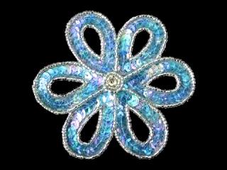 スパンコールモチーフ Clear Blue(1161)
