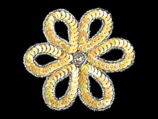 スパンコールモチーフ Pastel Yellow(1167)