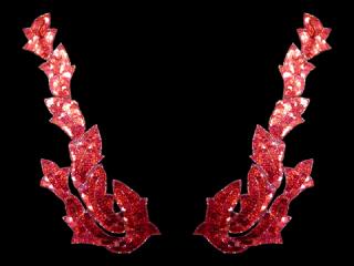 スパンコールモチーフ Red HG(2164)