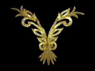 スパンコールモチーフ Gold HG(5162A)
