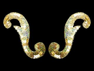 スパンコールモチーフ Gold HG(5222B)