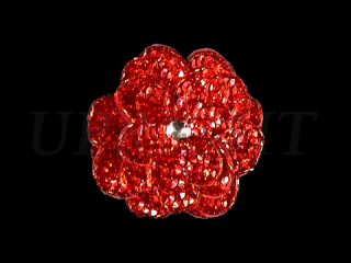スパンコールモチーフ Red HG(5551A)