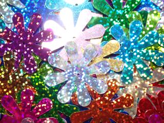 スパンコール ホログラム Flower-A