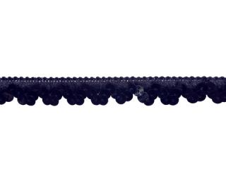 ストレッチ スパンコールトリム 1Row Black(107)