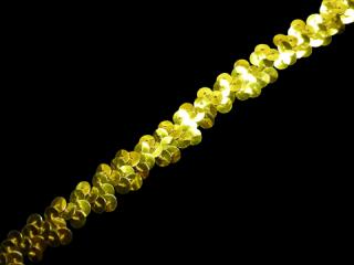 ストレッチ スパンコールブレード 1Row Gold MT(172)