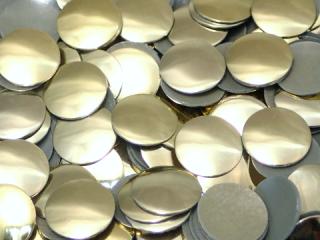 アルミ製スタッズ ドーム型 ゴールド 6mm