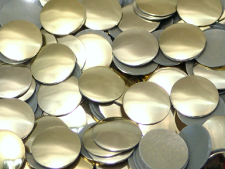 アルミ製スタッズ ドーム型 ゴールド 8mm