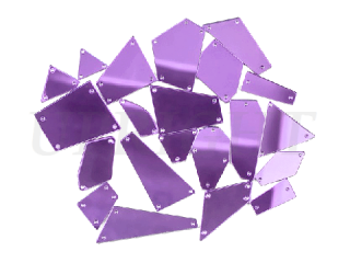 ミラーストーン 1セット(12個入) Purple 001