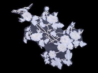 刺繍・レース シングル モチーフ(D3651)
