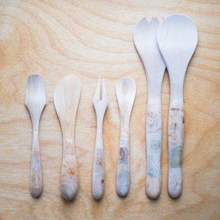 木製カトラリー「インレイ」シリーズ 5種