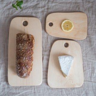 木製カッティングボード/まな板「白樺無垢材」3サイズ
