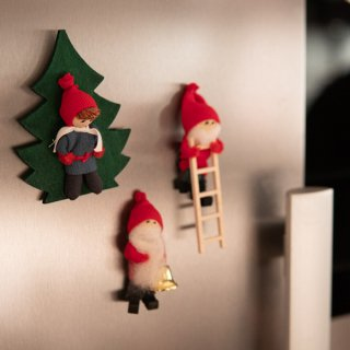 クリスマスマグネット「ブティッキ」6種