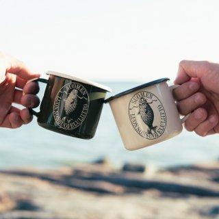 琺瑯マグカップ「アザラシロゴ」フィンランド自然保護協会