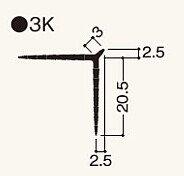 ニューツーウェーコーナー定木3K 1.82m NT3KW1/NT3KN1 ケース/ 200本入り(フクビ化学)