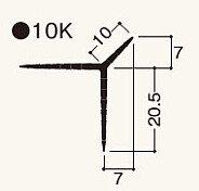 ニューツーウェーコーナー定木10K 1.82m NT10KN1 ケース/ 100本入り(フクビ化学)