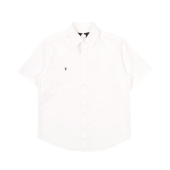 SS BUTTON UP (WHITE/BLACK)