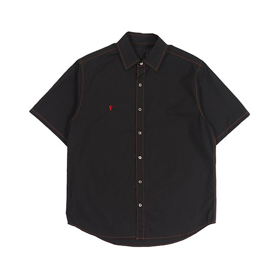 SS BUTTON UP (BLACK)