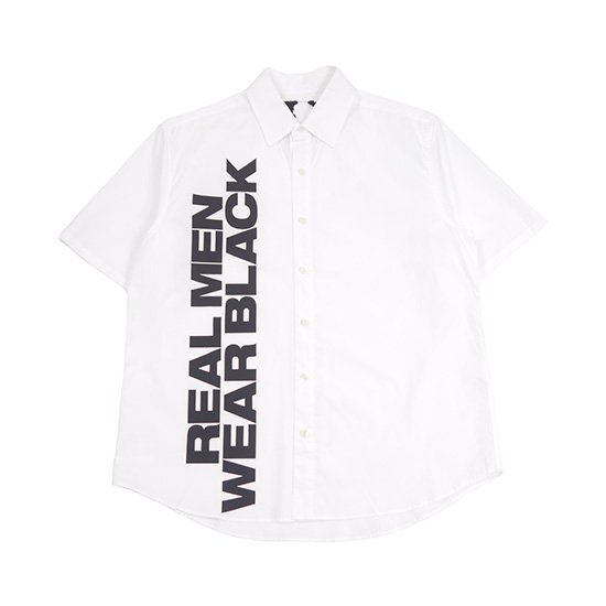 PRINT SS BUTTON UP (WHITE)