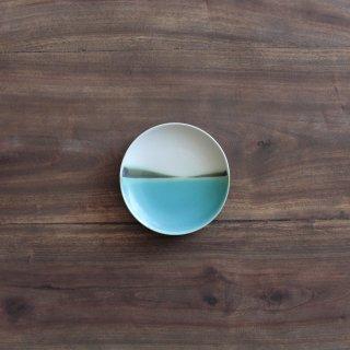 青い海4寸皿