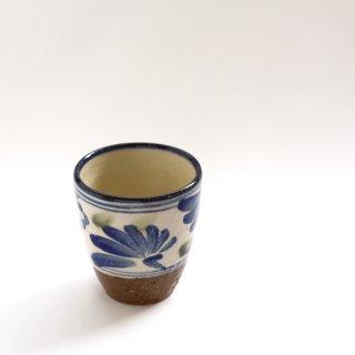 フリーカップ(唐草:オリベ/コバルト)