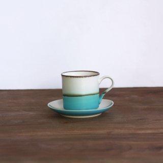 小さな青い海マグ&4寸皿 セット