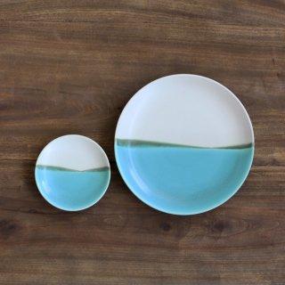 青い海 小皿+6寸皿 セット