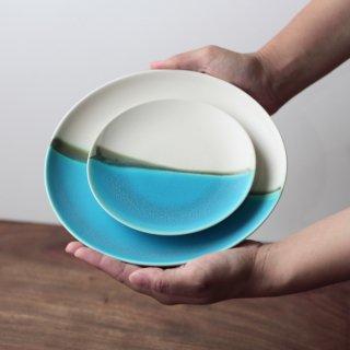 青い海 4寸皿+7寸皿 セット