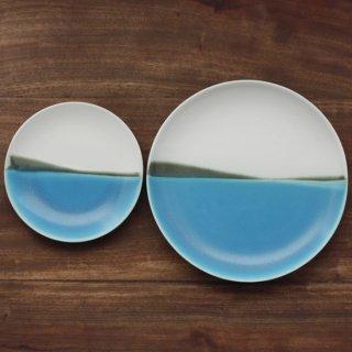 青い海 5寸皿+7寸皿 セット