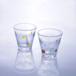 琉球ガラスコップ(カラフル)