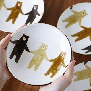 ぼくたちクマ5寸皿(カラー)</br>[お一人様2点まで]