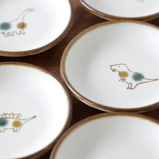 jurassic plate3寸皿 2点セット