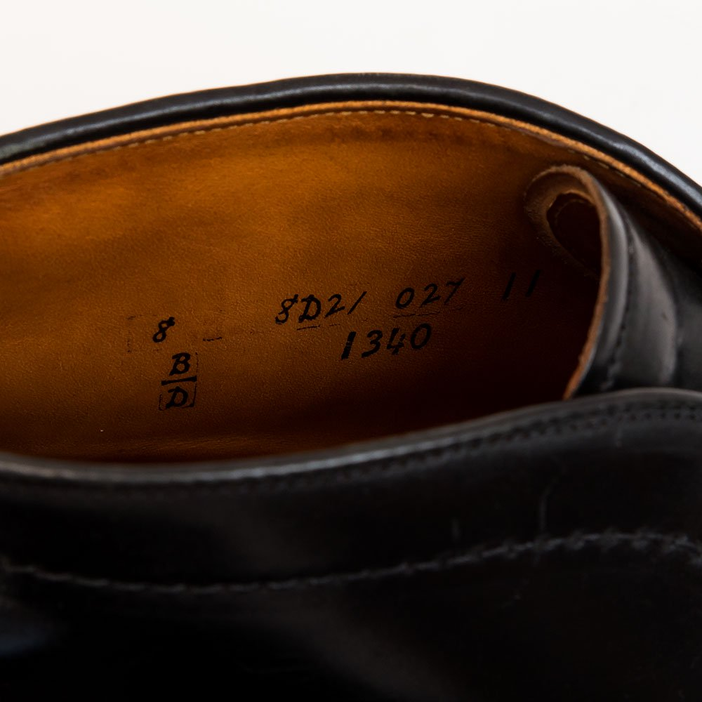 オールデン チャッカー コードバン ブラック 1340 サイズ8D