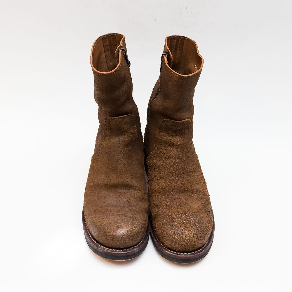バックラッシュ ステアスエード 牛脂仕上げ サイドジップブーツ 566-02 サイズ25.5