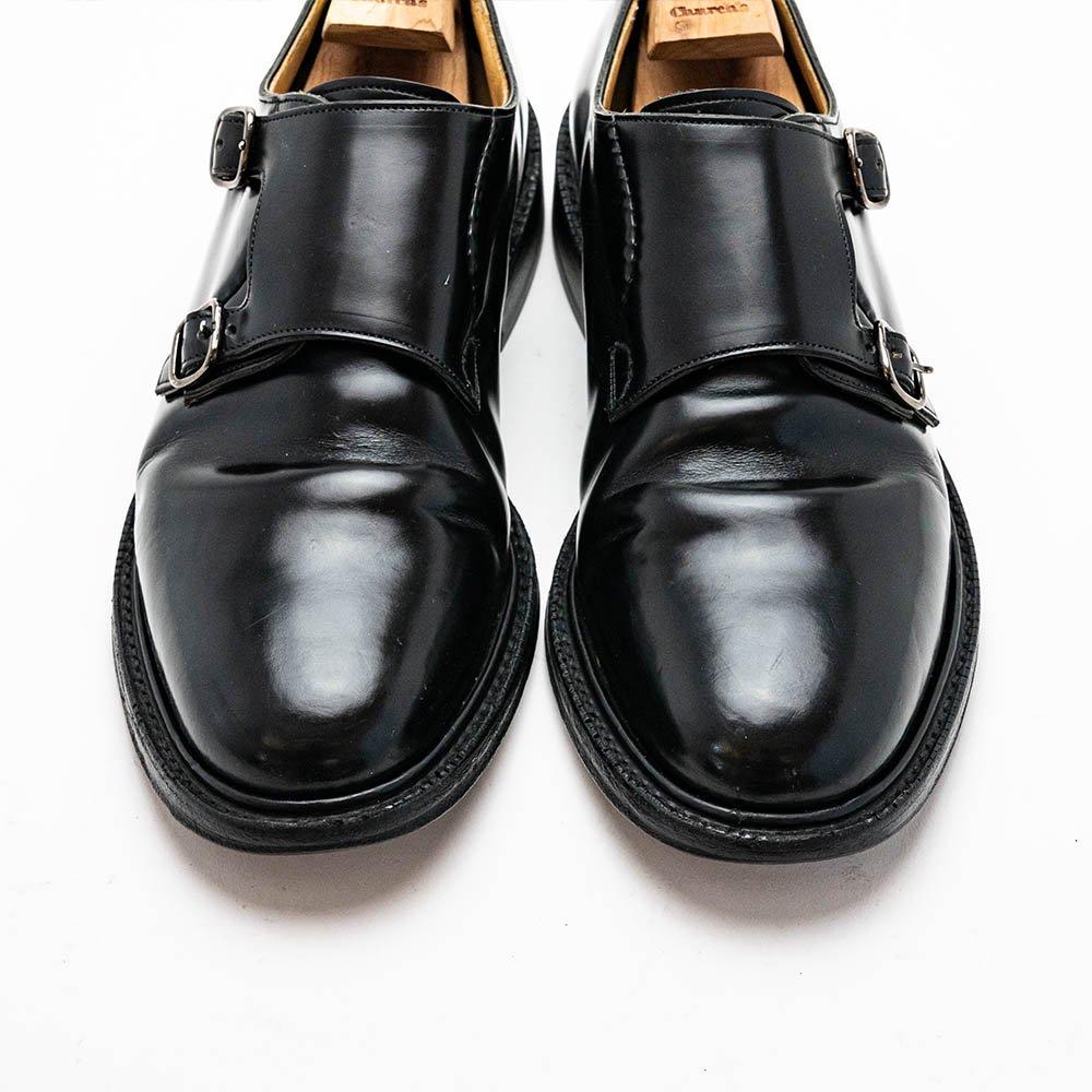 チャーチ LAMBOURN【ランボーン】ダブルモンク  ブラック ポリッシュドバインダーカーフ サイズ70F