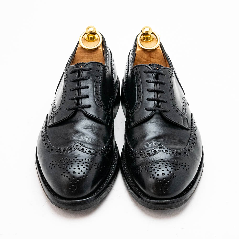 ジェイエムウエストン 588 外羽根ウィングチップ  ブラック 旧ロゴ サイズ5.5E