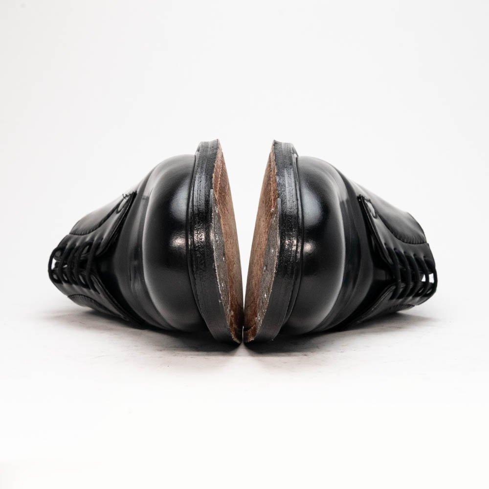 チャーチ シャノン プレーントゥ ブラック ポリッシュドバインダー サイズ65F