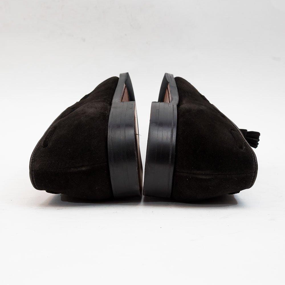 クロケット&ジョーンズ CAVENDISH3【キャベンデッシュ】タッセルローファー  ブラック スエード BEAMS F別注 サイズ8.5E
