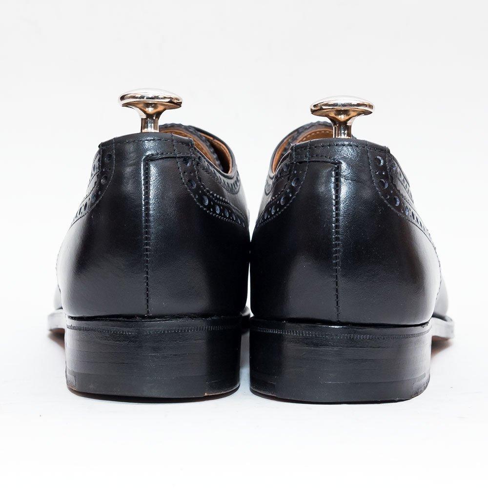 クロケット&ジョーンズ 6335L 内羽根セミブローグ ブラック ニュー&リングウッド別注 サイズ6E