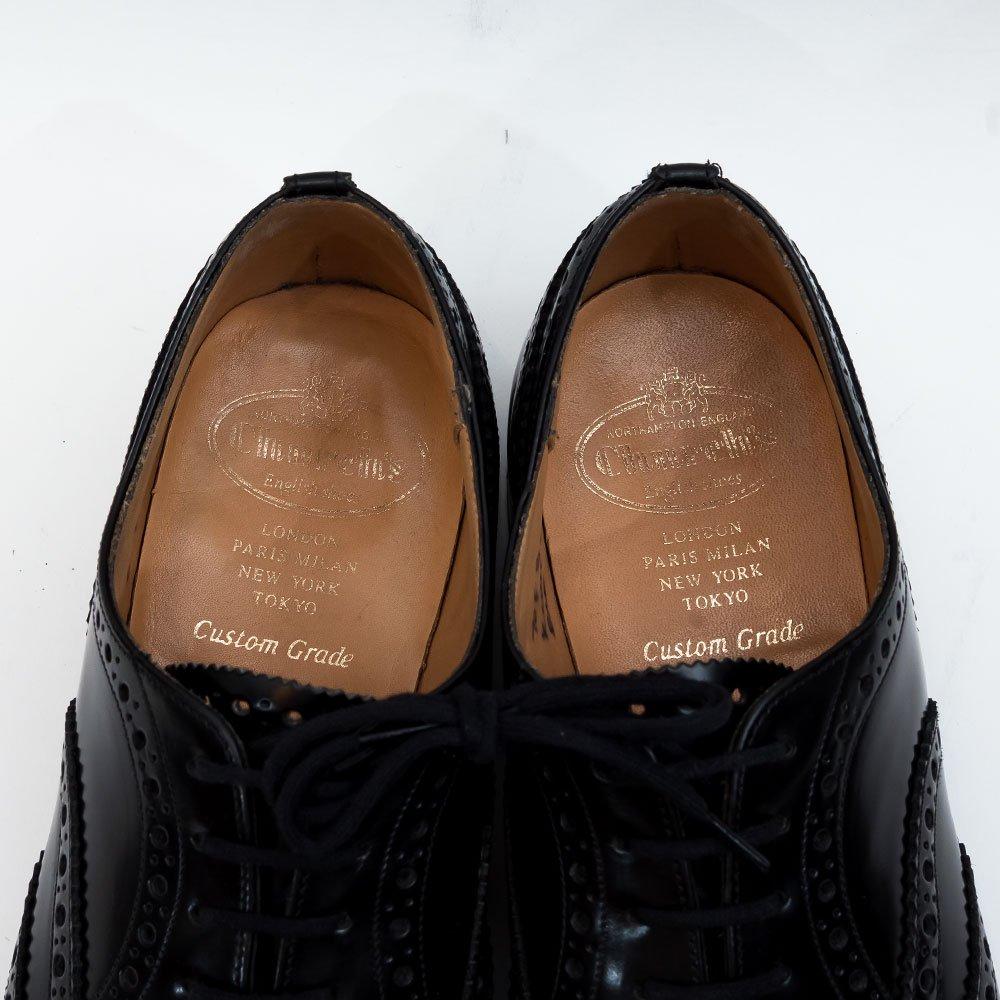 チャーチ BURWOOD【バーウッド】内羽根ウィングチップ ブラック ポリッシュドバインダー  サイズ70F