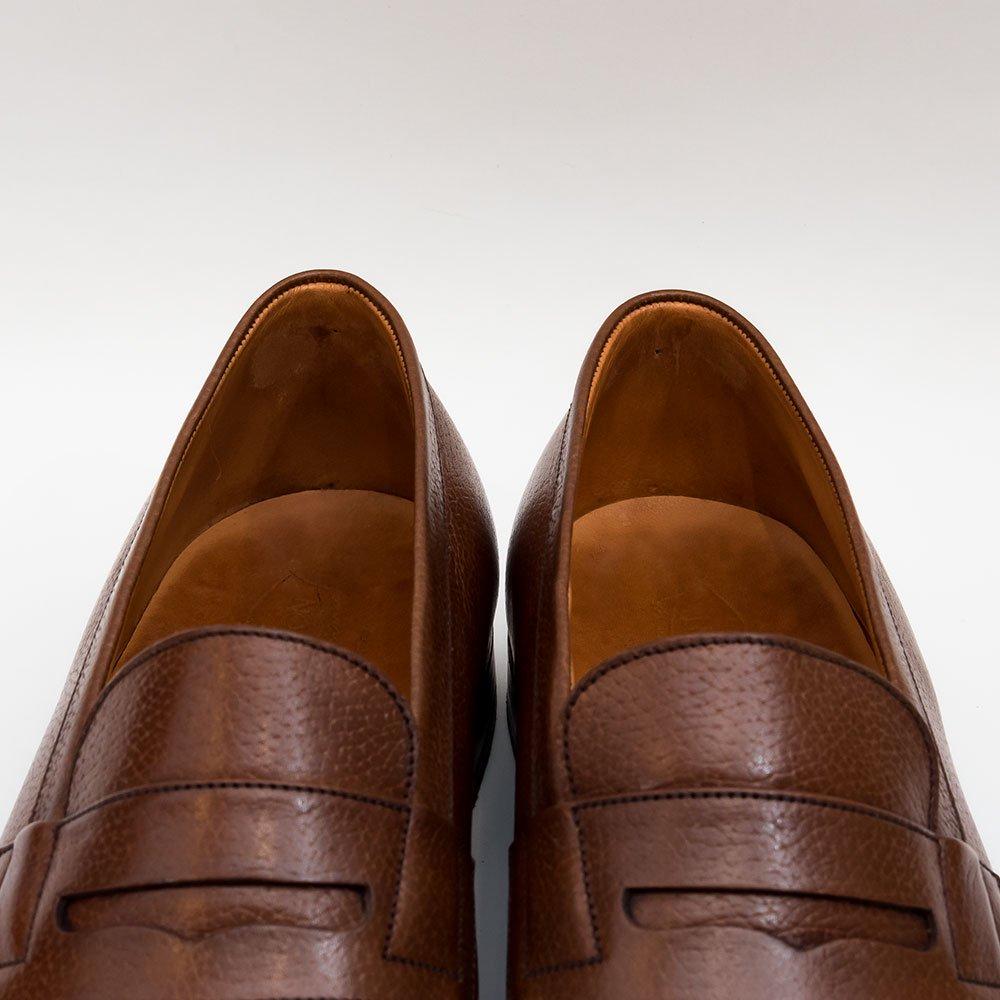 ジェイエムウエストン 180 シグニチャーローファー 旧ロゴ グレインレザー ブラウン サイズ6.5E