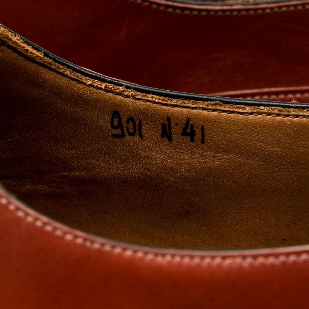 ボリーニ 内羽根ウィングチップ バーガンディー レッド ノルベジェーゼ製法 サイズ41