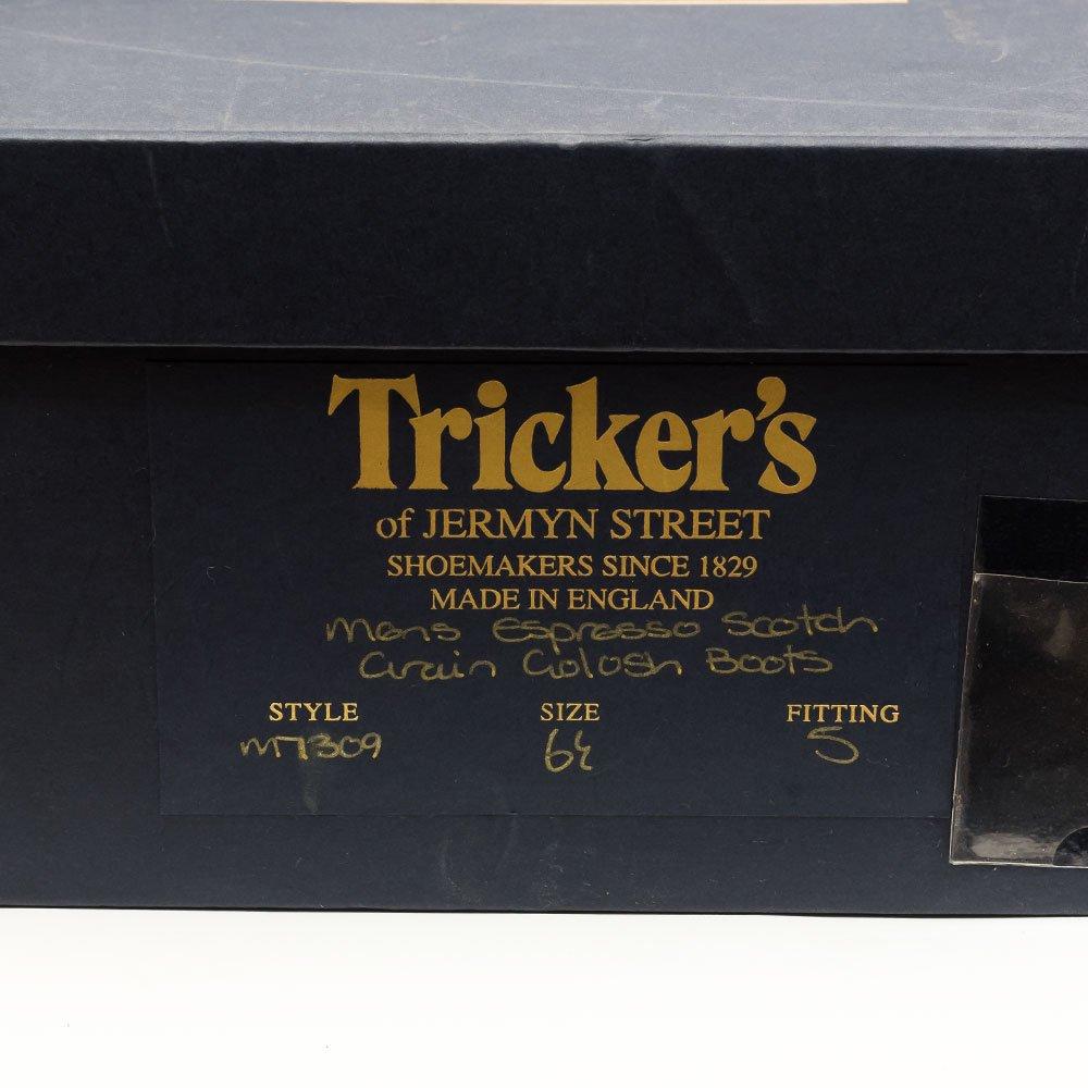トリッカーズ M7801 カントリーブーツ ウイングチップ ブラック ポールスミス別注  サイズ6.5Fitting5