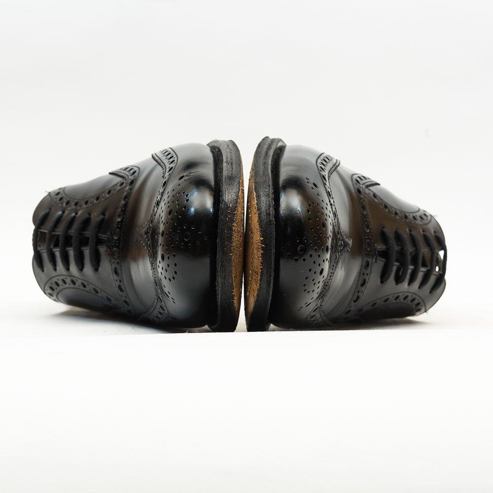 チャーチ BURWOOD【バーウッド】内羽根フルブローグ ウイングチップ ブラック ポリッシュドバインダー  サイズ75F